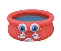 Jilong Crab Quick-Up Pool Ø 175 x 62 cm Kinderpool im Krabbe Design Planschbecken Kinder Schwimmbecken Schwimmbad für Garten und Terasse