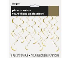 Unique Industries 63283 Decoration Party-Deko, plastik, gold