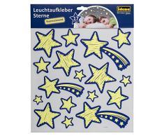 Idena 31263 - Leuchtaufkleber Sterne, im Dunkeln leuchtend, Sternenhimmel für das Kinderzimmer, 17 teilig