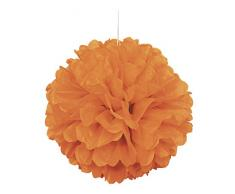Unique Industries 64276 16 Orange Tissue Paper Pom Party-Deko, Papier
