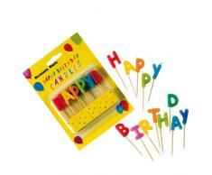 Procos 9191 Kerzen Happy Birthday, mehrfarbig