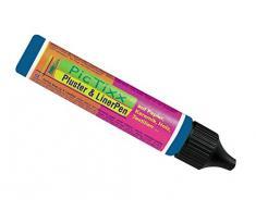 Kreul 49813 - PicTixx Pluster und Liner Pen, Plusterfarbe zum Dekorieren und Verzieren, für Dekoeffekte durch aufplustern im Backofen, mit Bügeleisen oder Fön, 29 ml Pen, dunkelblau