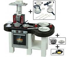 Theo Klein – 9007 – Küche Bosch Cool mit Stieltopf Wasserwaage – Gemeinsam Kochen und-Crêpepfanne