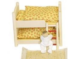 Rülke Holzspielzeug 22687 Puppenhauszubehör, holzfarben, gelb, braun