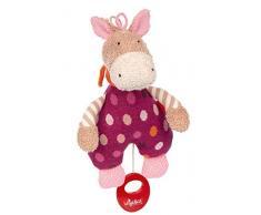 SIGIKID Mädchen, Spieluhr zum Aufziehen, Pony Hoppe Dot, Babyspielzeug, empfohlen ab 0 Monaten, lila/beige, 39250