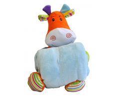 Hug Me 3830047237780 Plüsch Spielzeug 26 cm, Babyspielzeug mit Decke Kleine Kuh, 90 x 70 cm, blau