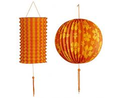 Widmann 02524 Lampion 2er Set, Unisex – Erwachsene, Gelb/Orange
