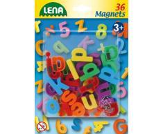 Lena 65746 - Magnet Kleinbuchstaben Set, Lernspielset mit 36 Buchstaben je ca. 3 cm groß, Magnetbuchstaben Set für Kinder ab 3 Jahre, magnetische Kleinbuchstaben für Magnettafel, Buchstabenmagnete