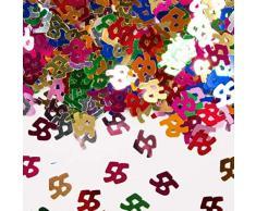 Folat 05344 - Tischkonfetti Zahl 55 - bunt - 12 x 14 gr.