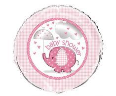 Unique Party Supplies 45,7 cm Folie Pink Elefant Baby Dusche Helium Ballon