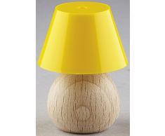 Kahlert Licht 10464 - Minipuppenzubehör - Tischlampe Holzfuß, Schirm, gelb