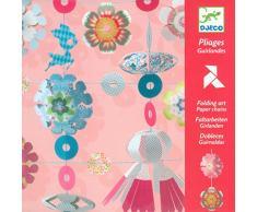 Djeco DJ08768 8768 Bastelset Kirigami Girlanden, Multicolour