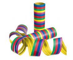 Susy Card 11144698 - Luftschlangen, Streifen, farbig, sortiert, 3 Rollen