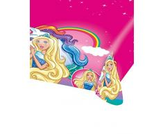 Amscan International Tischdecke 9902526 Plastic-licensedbarbie-dreamtopia Plas tcover