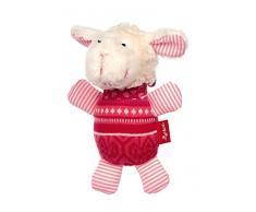 Sigikid Mädchen und Jungen, Greifling mit Glöckchen Schnuggi, Babyspielzeug, empfohlen ab 3 Monaten, pink/weiß, 39277