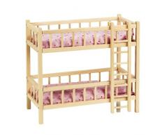 Goki RA206 - Puppen- Etagenbett mit Leiter