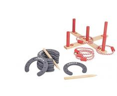 Throw Überwurf throwj8606 Spiele in Holz mit Ringen und Hufeisen