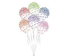 Amscan International 9902932 Retail 28 cm Premium Bedruckt Ballon 6 Stück 27,9 cm PTD Konfetti