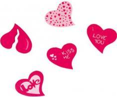 Amscan International Herz Form Dekorative superkardierte Konfetti