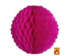 Widmann MAGENTA WONECOMB LANTERN GLOBE Ø 32 cm Deko für Party Dekoration Lampion Party