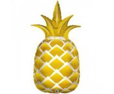Unbekannt Qualatex 57362 Supershape Folienballon Golden Ananas, Blumenkasten