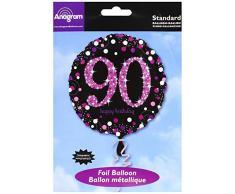 amscan 3379101 Folie zum 90. Geburtstag Luftballons