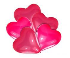 Luftballon Herz - klein, rot, 10 Stück
