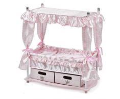 Hauck Puppenbett Princess, Himmelbett für Puppen inklusive Kissen und Decke, 2 Aufbewahrungsboxen - Rosa