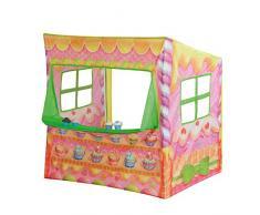 John 79806 Candyhaus Kaufladen Spielzelt mit Cupcakes, Mehrfarbig