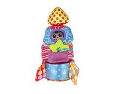 Lamaze Baby Spielzeug Softe Stapelrakete - kleiner Astronaut und Beißstern - Greifspielzeug ab 6 Monate fördert Motorik, Tastsinn, Sehvermögen und hilft beim Zahnen