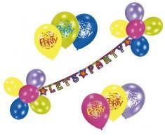 Riethmüller 450197 - Deko Set - Lets Party, Girlande und 20 Luftballons