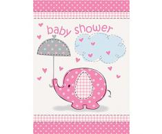 Unique Party Supplies Pink Elefant Baby Dusche Einladungen, 8 Stück
