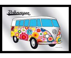 Close Up V829190 Spiegel Bulli Hippie VW Lizenz Wandspiegel, Mehrfarbig