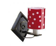 Kahlert Licht 10383 - Minipuppenzubehör - Wandlampe, rot