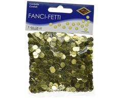 Beistle 50620-GD Dots Confetti Konfetti, plastik, gold
