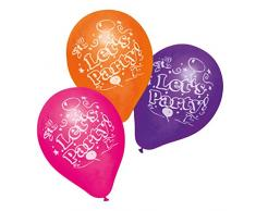 Susy Card 40011615 - Luftballons Lets Party, 6er Packung