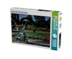 Jardin des Prés Fichaux Sonnenuhr 1000 Teile Puzzle quer