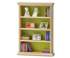 Lundby 60305000 - Bücherregal Puppenhaus - Puppenhaus-Zubehör - Möbelset 22-teilig - Regal - Holzregal - Möbel - Bücher - Radio - ab 4 Jahre - für 11 cm Puppen - Minipuppen 1:18