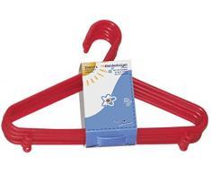 Bieco Kleiderbügel Kinder 8 St. Rot | Länge ca. 30 cm | Baby Kleiderbügel | Kunststoff Kleiderbügel Kinder Baby | Baby Organiser Für Kleiderschrank | Kleiderbügel Baby | Baby Clothes Hangers
