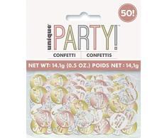 Unique Party 84950 Konfetti, rose gold