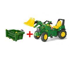 Rolly Toys 710379 - John Deere 7930 Trettraktor, 3 - 8 Jahre mit Frontlader, Transportmulde