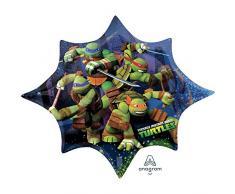 Amscan Anagram 2643001 - Party und Dekoration - Folienballon Super Shape - Teenage Mutant Ninja Turtles, circa 88 x 73 cm