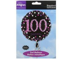 amscan 3379201 Folie 100. Geburtstag Luftballons