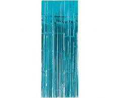 Amscan International 24200–54 91 cm x 2,43 m Karibik Blau Tür Vorhang