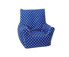 Knorrtoys 68112 - Kindersitzsack Junior - Blue white stars