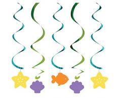 5-count Aufhängen gewickelten Luftschlangen, Mermaid Friends