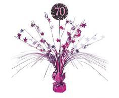 amscan 9901741 Tischdekoration Pink Celebration 70 Jahre