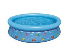 Jilong Fisch Pool Ø 150 x 38 cm Quick-Up Kinderpool Fast Set Planschbecken Schwimmbecken Kinder Schwimmbad für Garten und Terasse (sortiert - Farbauswahl nicht möglich)