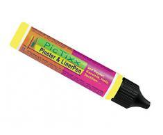 Kreul 49802 - PicTixx Pluster und Liner Pen, Plusterfarbe zum Dekorieren und Verzieren, für Dekoeffekte durch aufplustern im Backofen, mit Bügeleisen oder Fön, 29 ml Pen, citron