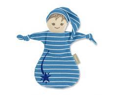 Sterntaler Spielpuppe mit Streifen, Integrierte Rassel, Alter: Für Babys ab der Geburt, 20 cm, Blau